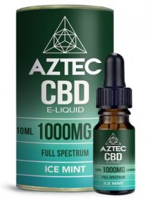 Ice Mint CBD E-Liquid 10ml By Aztec CBD CBD Vape