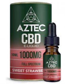 Sweet Strawberry CBD E-Liquid 10ml By Aztec CBD CBD Vape