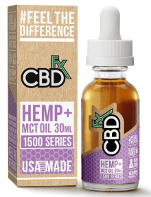 CBD Hemp MCT Oil Tincture 1500 Series 30ml By CBDfx CBD Vape