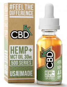 CBD Hemp MCT Oil Tincture 500 Series 30ml By CBDfx CBD Vape