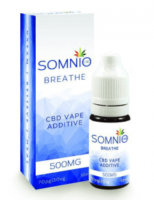 CBD Vape Additive 500mg 10ml By Somnio Breathe CBD Vape