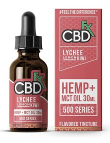 CBD Lychee Lemon Kiwi MCT Oil Tincture 30ml By CBDfx CBD Vape