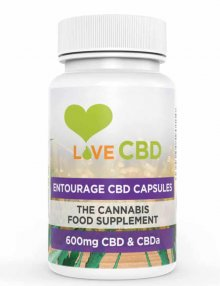 Entourage CBD Capsules 600mg 60 Pieces By Love CBD CBD Vape